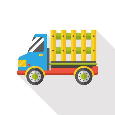 fast driving: transportation truck flat icon