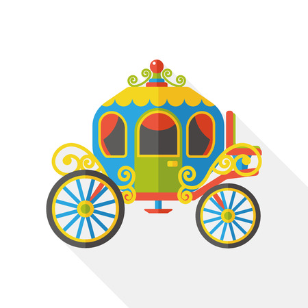 chariot: horse carriage flat icon