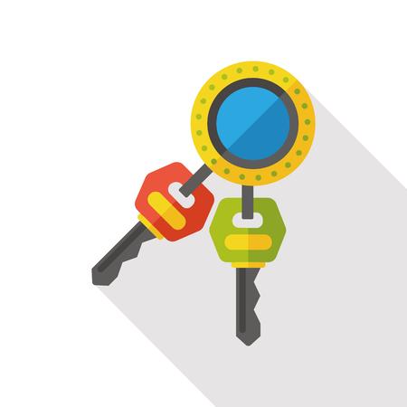 hotel key flat icon Illustration