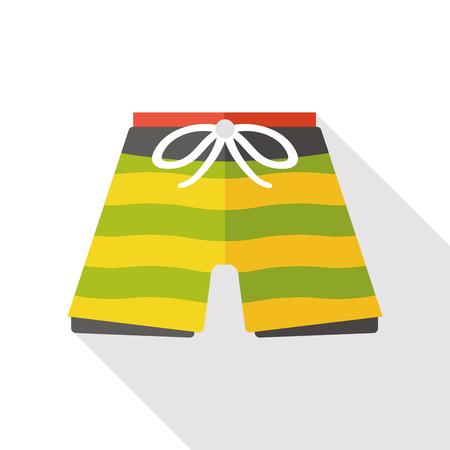black woman lingerie: swim suit flat icon Illustration