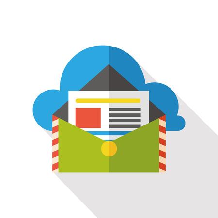 e mailing: e-mail message flat icon