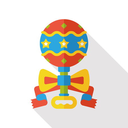 sonaja: Beb� icono traqueteo plana