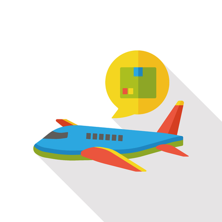 airplane cargo: airplane cargo flat icon Illustration
