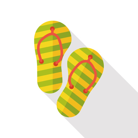 to flop: Slippers flip flop flat icon Illustration