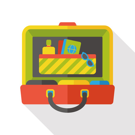 trolley case: luggage case flat icon
