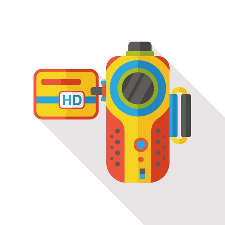 con: video camera flat con