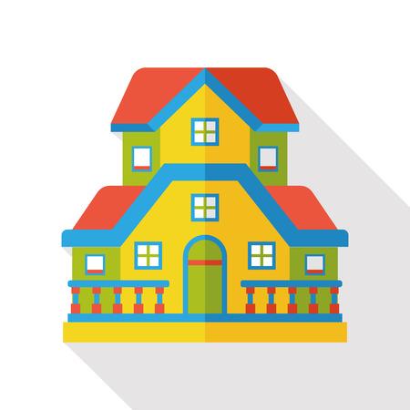 콘도: building structure flat icon