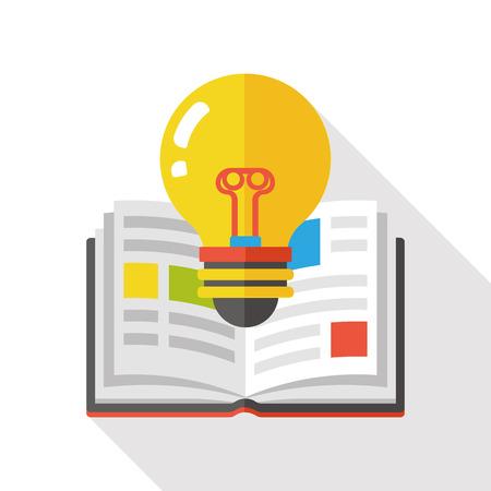 livre �cole: school book flat icon Illustration