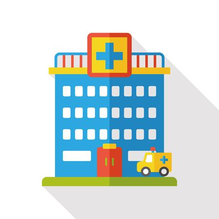 Icono plana del hospital Foto de archivo - 48134556