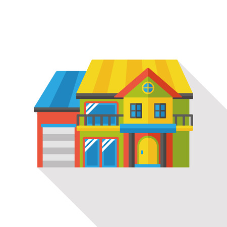 modern illustration: building structure flat icon