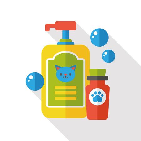 shampoo: pet shampoo flat icon Illustration