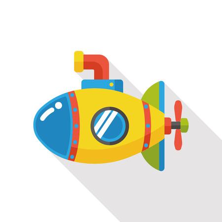 periscope: sea submarine flat icon