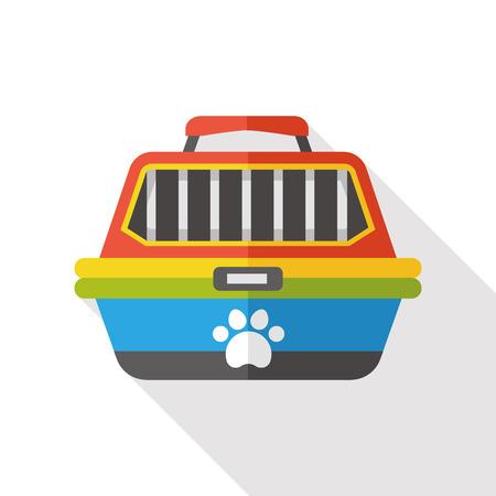 transporter: pet dog travel cage flat icon Illustration