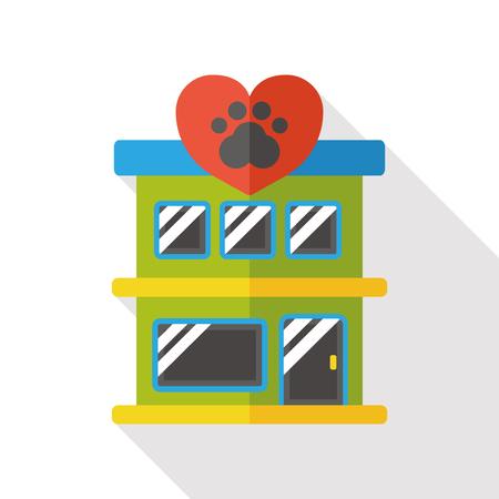 pets: pet hospital flat icon
