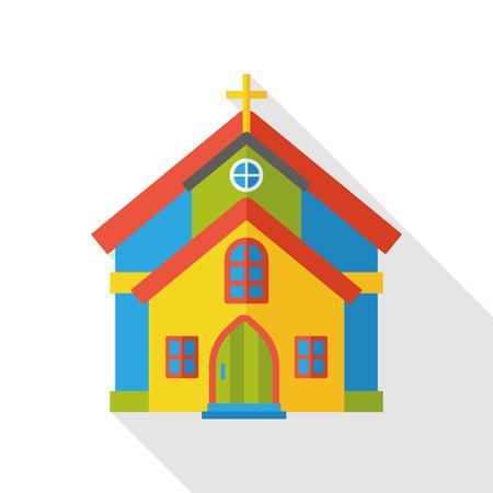 church flat icon Çizim