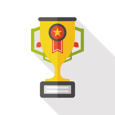 trophy: Trophy award flat icon