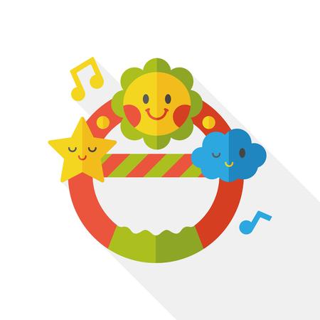 sonaja: Baby rattle flat icon