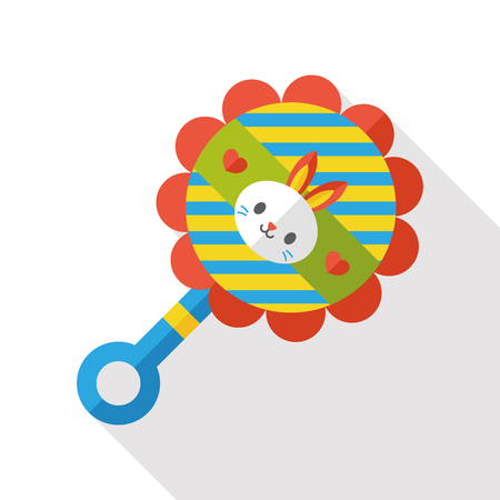 Baby rattle flat icon