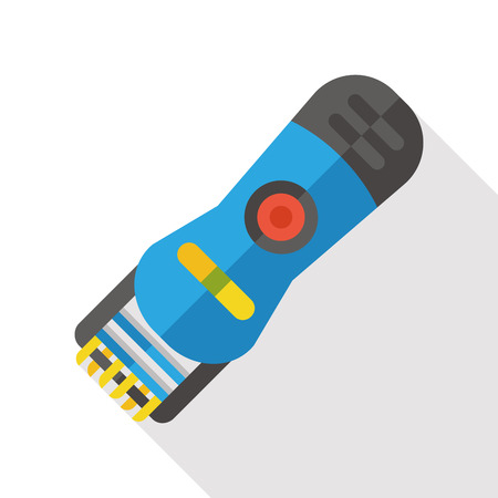 groomer: pet shaving machine flat icon Illustration