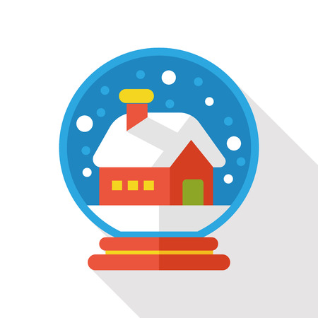 gazing: winter crystal ball flat icon