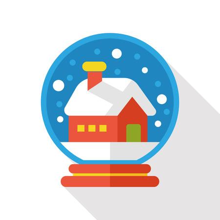 winter crystal ball flat icon