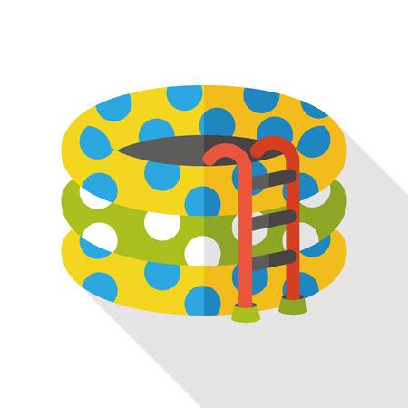 poolside: swimming pool flat icon Illustration
