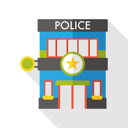 police station flat icon