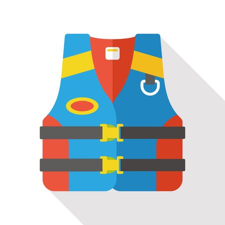 life jacket: Life jacket flat icon