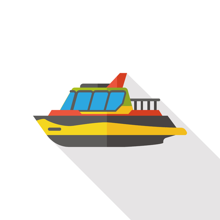 marine industry: Transportation flat ship icon Illustration
