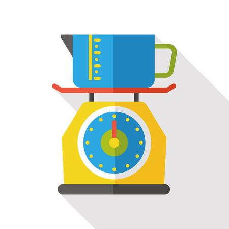 weigh machine: Weighing machine flat icon