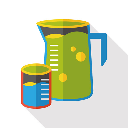 measuring cup: Measuring cup flat icon