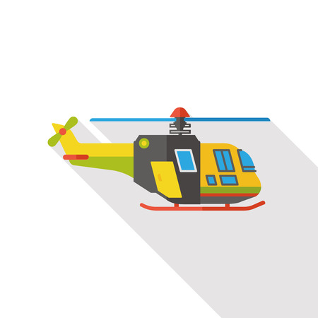 rescue helicopter: Transportation flat helicopter icon Illustration