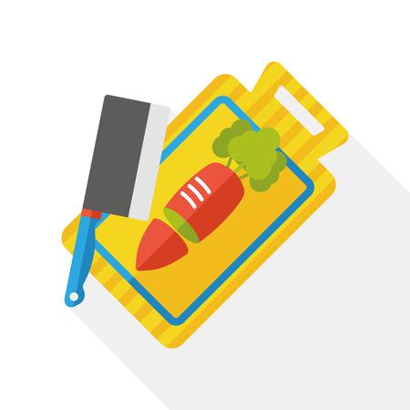 cutting board: Cutting board flat icon