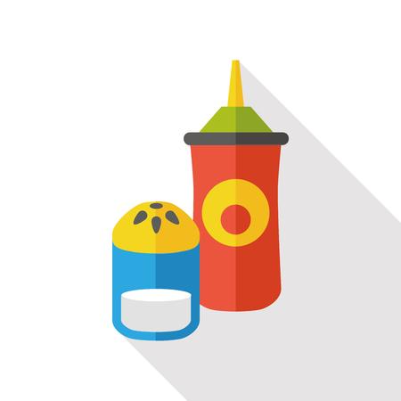 sauce: sauce bottle flat icon