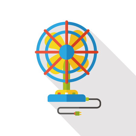 electric fan: electric fan flat icon Illustration