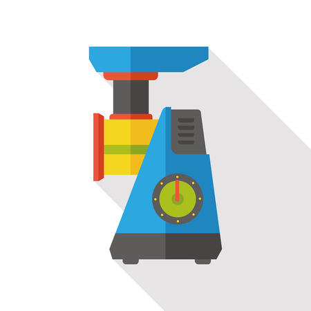 grinder: coffee grinder flat icon Illustration