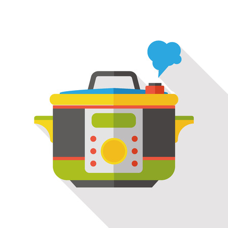 cooker: rice cooker flat icon