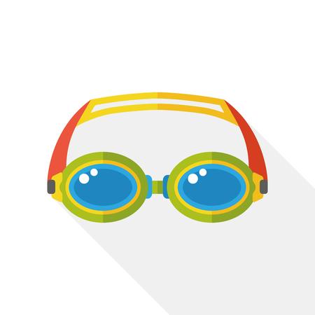 goggles: swimming Goggles flat icon