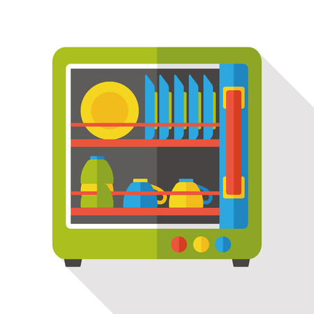 lavavajillas: icono plana lavavajillas