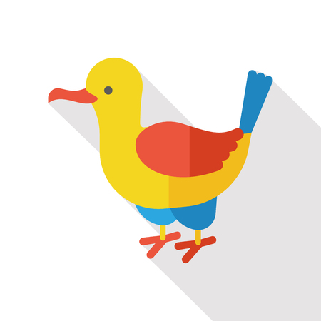 seabird: animal Seagull flat icon Illustration