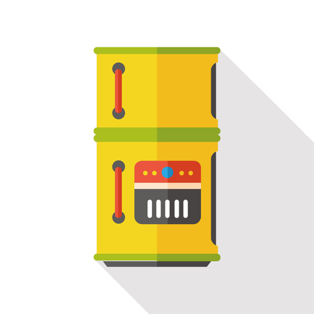 refrigerator kitchen: kitchen Refrigerator flat icon Illustration