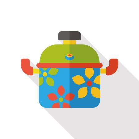 kitchenware pot flat icon