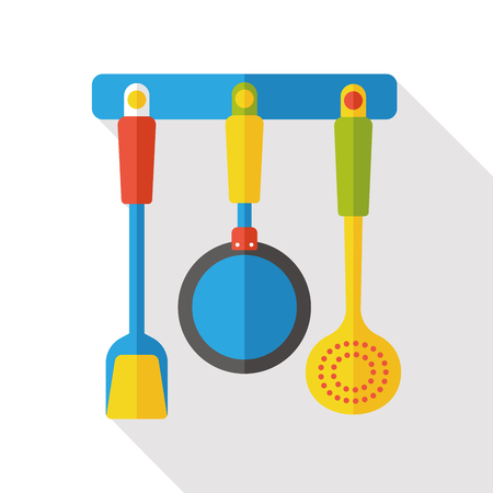Kitchenware spatula flat icon