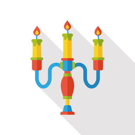 candlestick: Candlestick flame flat icon