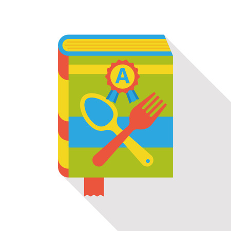 cooking recipe: cooking book flat icon