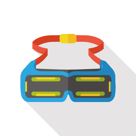 ski wear: Swimming Goggle flat icon