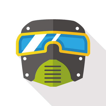 chemical warfare: Gas masks flat icon