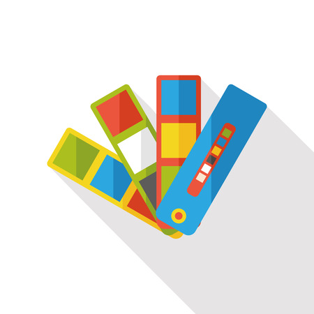 sign h: color card flat icon Illustration