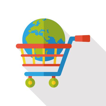 shopping cart icon: internet shopping cart icon Illustration