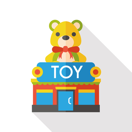toy shop store flat icon